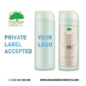 argan milk with private label d'Arganisme
